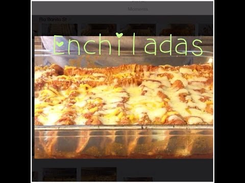 How to make Enchiladas in the oven