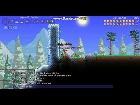Terraria Bug 1.2.0.3: Immortal Warp Hole of Infinite Lasers