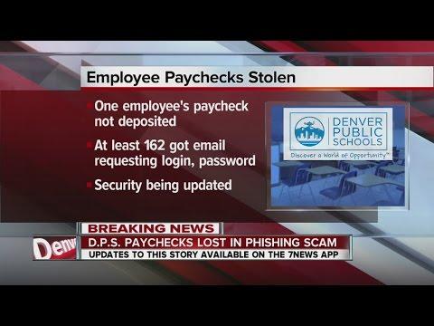 Some Denver Public Schools paychecks lost in phishing scam