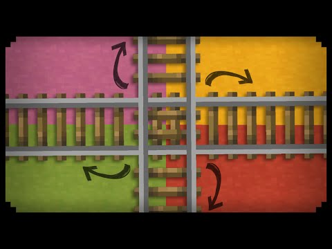 ✔ Minecraft: How to make a Railway Intersection