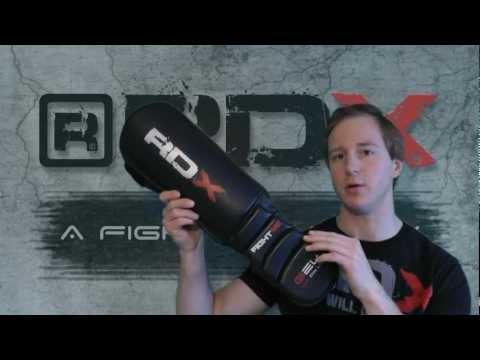 Authentic RDX Leather Shin instep pad MMA leg guard Kick Gloves Reivew
