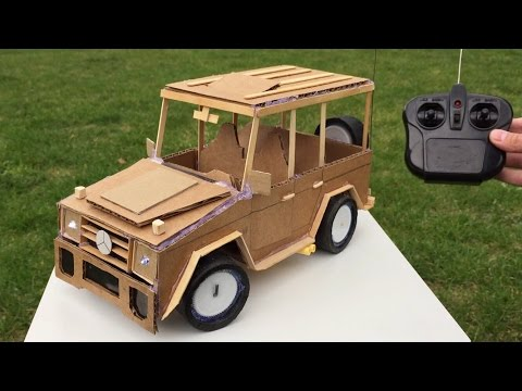 How to Make a Car with Remote Control using Cardboard - Mercedes-Benz G class - Awesome Toy DIY