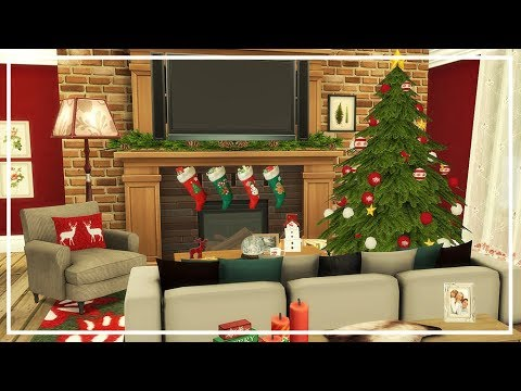 SIMS 4 CHRISTMAS HOUSE PART 2 🌲 Speed Build
