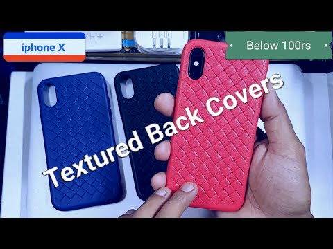 iphone X Textured Back Covers