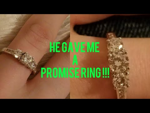 He gave me a promise ring💍💙  Kenzie & Ethan