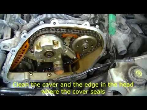 VW 2.5 L engine removing timing cover
