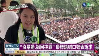 616反送中遊行 大數據估144萬人上街   華視新聞 20190616