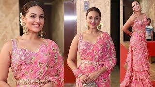 KHOOBSURAT Sonakshi Sinha Looking Amazingly Beautiful Like A Diva At Ramesh Taurani's Diwali Bash