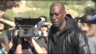 Paul Walker Funeral  Tyrese Gibson and other co stars is crying for Paul Walker we will Remember you