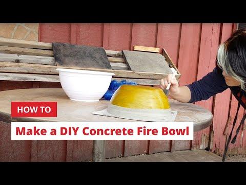 How to Make a DIY Concrete Fire Bowl
