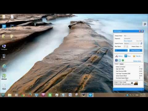 Turn Your Windows 7 8  Desktop or Laptop into a WiFi Hotspot Tutorial video