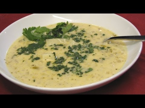 Creamy Green Chili and Cheese Soup -- Lynn's Recipes
