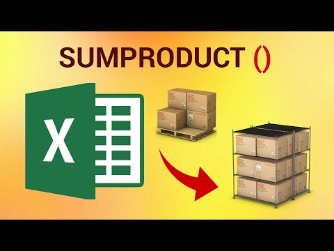 How to use SUMPRODUCT in Excel 2016