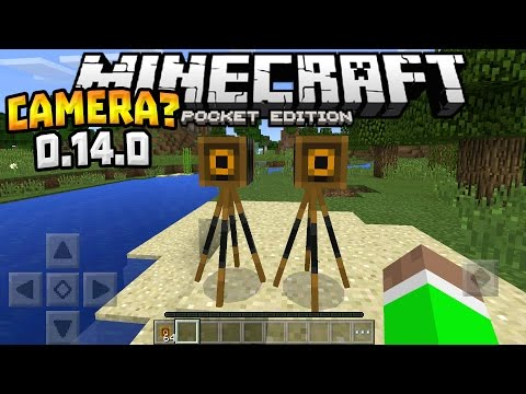 HIDDEN ITEM in MCPE!!! - 0.14.0 Hidden Camera Feature - Minecraft PE (Pocket Edition)
