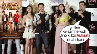 Download Karan Johar Insults Alia Bhatt,Varun Dhawan & Siddharth Malhotra's Student of The Year Part 1 Video
