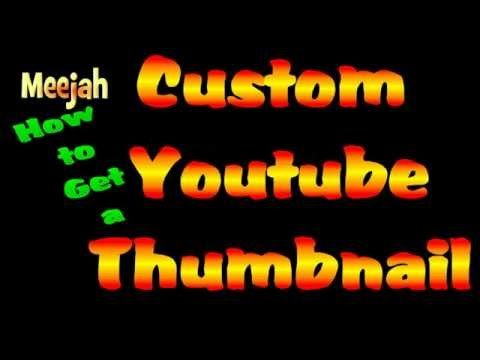 How to get Custom Youtube Thumbnails (easy) without partnership Tutorial