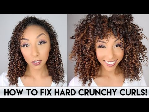 How To Fix Hard Crunchy Curls! | BiancaReneeToday