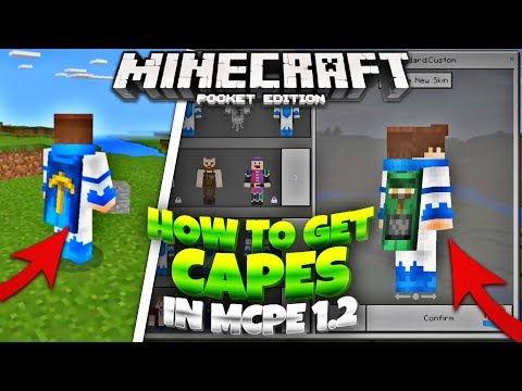 How to GET Capes in Minecraft 1.2 - MCPE 1.2 Custom Capes Tutorial (Minecraft PE 1.2)