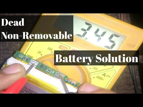 how to repair a dead non-removable smartphone battery    explained in hindi