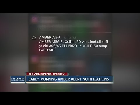 Early morning AMBER Alert notifications
