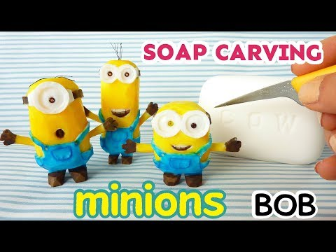 SOAP CARVING| minion BOB | How to carve and paint | DIY | ASMR | Satisfying|