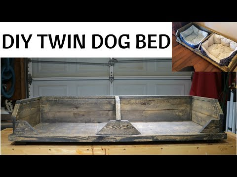 DIY Rustic Dog Bed (Twin) DIY Project for Pets