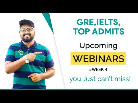 Online Seminars on IELTS, Scholarships & MS admission | MS in US
