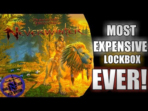 Opening The Most Expensive LOCKBOX in Neverwinter!! Firemane Lockbox Opening!