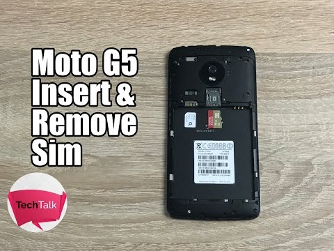 How to insert sim and SD card into Moto G5