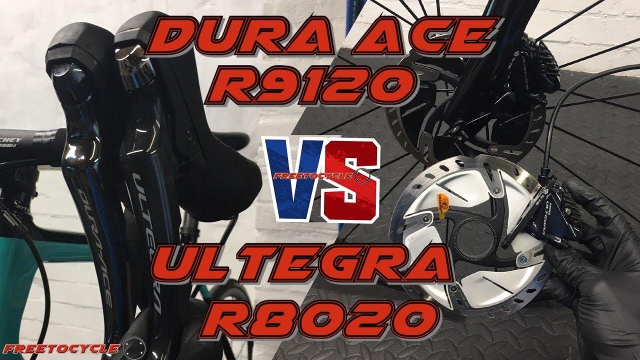 Shimano Dura Ace R9120 vs Ultegra R8020 Disc Brakes