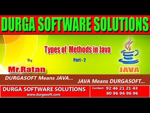 Corejava  - Basics -  Types of Methods in Java Part -  2