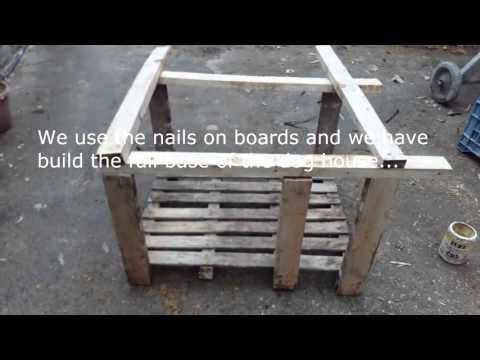 How to build a simple dog house using wood pallets