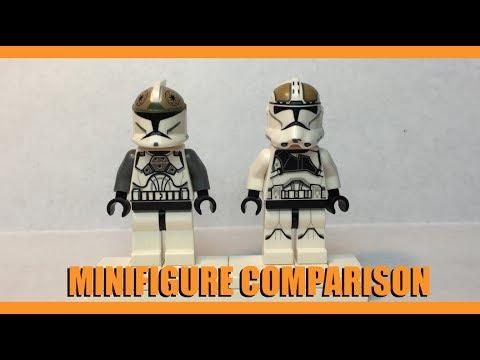LEGO STAR WARS CLONE GUNNER MINIFIGURE COMPARISON