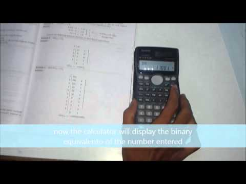 Decimal to Binary and Hexadecimal conversions using casio fx-991MS | HYONKOWS