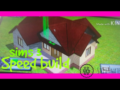 Speed build sims 3 Xbox 💻😀👍🤗