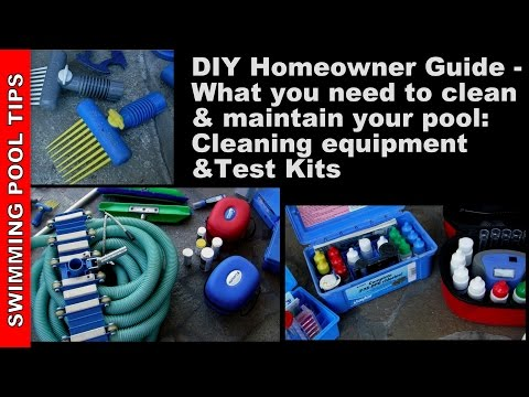 Swimming Pool Cleaning Equipment, Test Kits and Tools for the Do It Yourself Homeowner