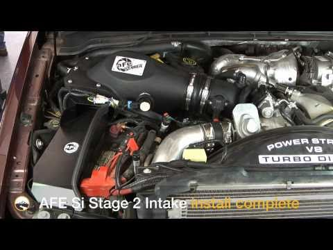 AFE Stage 2 SI Cold Air Intake Install: 2008 Ford 6.4L Powerstroke