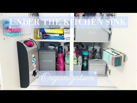 HOW TO ORGANIZE UNDER THE KITCHEN SINK CABINET | CLEAN AND ORGANISE WITH ME | MRS SMITH & CO.