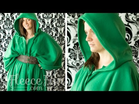 Easy Long Cape - sew and no sew (FREE Pattern!)