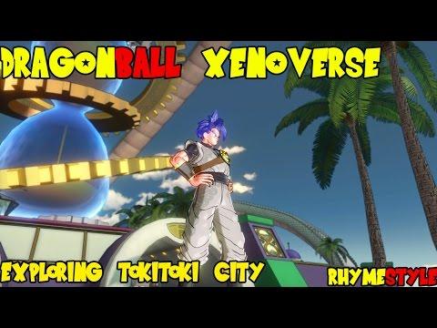 Dragon Ball Xenoverse Beta: Online Mode Freeroam in Tokitoki City & Player Challenges