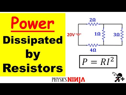 DC Circuits - Power Dissipated in Resistors