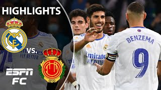 Marco Asensio scores hat trick as Real Madrid thumps Mallorca 6-1 win | LaLiga Highlights | ESPN FC