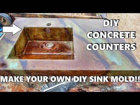 Building a sink mold yourself using melamine: HOW-TO DIY Concrete counter tops