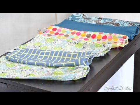 How to sew easy grocery bag holders.
