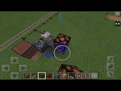 How to make a railroad crossing in MCPE 0.15.9