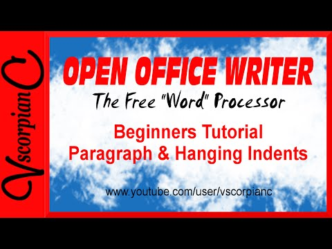 OpenOffice Writer Tutorial - How to Set Paragraph Indents & Hanging Indents by VscorpianC