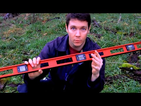 How to Measure Elevation of Land, Slope, With a String and 2 Metal Posts: No Transit or Laser Level