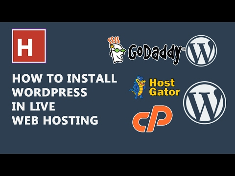 how to install WordPress on your  live web hosting in hindi