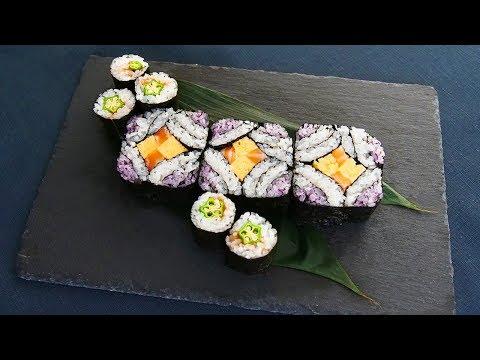 七夕に! パッと華やかな飾り巻き寿司! オクラの細巻きで手軽に七夕感を演出♪【料理レシピはParty Kitchen🎉】