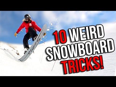 10 WEIRD SNOWBOARD TRICKS (EASY)